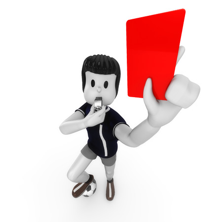 unfair rules: red card Stock Photo
