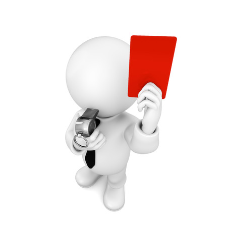 an umpire: umpire Stock Photo