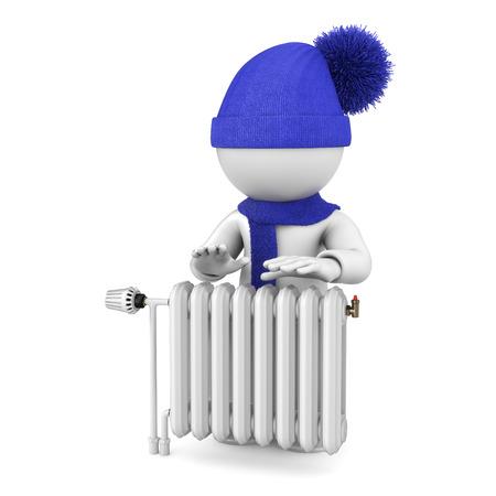 warm up: Riscaldare sul radiatore Archivio Fotografico