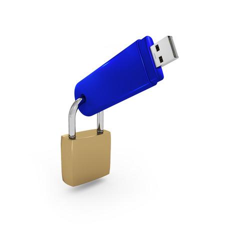 mass storage: USB with lock