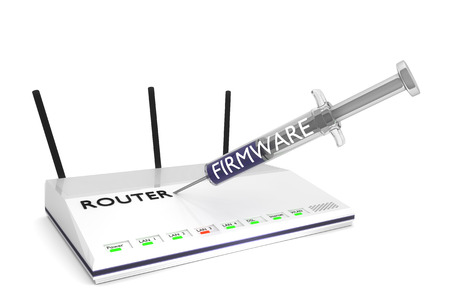 secure router Stockfoto