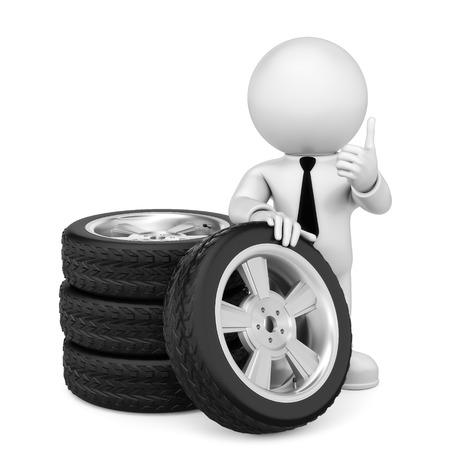 fcc: tire change Stock Photo