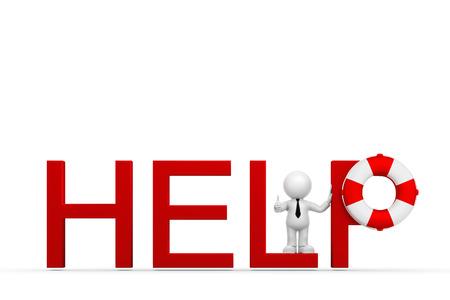 Figure vous aide Banque d'images - 42056984