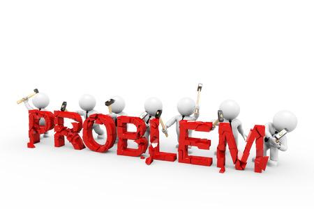 in problem: eliminate problem Stock Photo