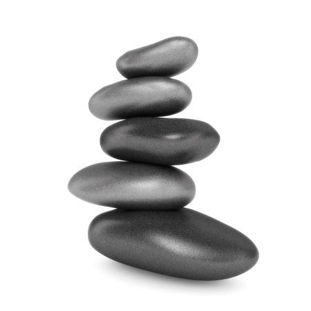 depressant: stacked stones Stock Photo