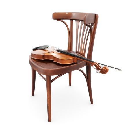 bistro: Violin on Bistro chair