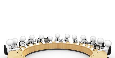 round table Standard-Bild