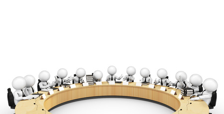 round table Archivio Fotografico