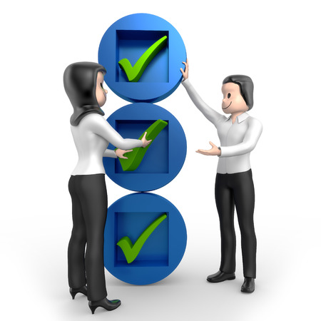 foundation problems: Pair of checklist Stock Photo