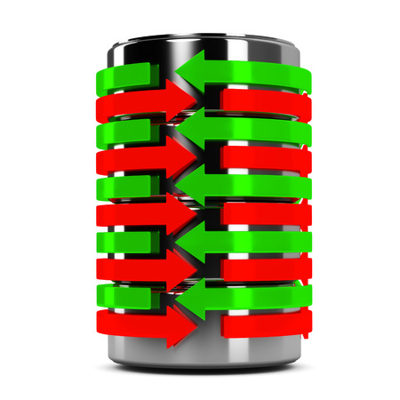 cilindro: flechas cilindros Foto de archivo