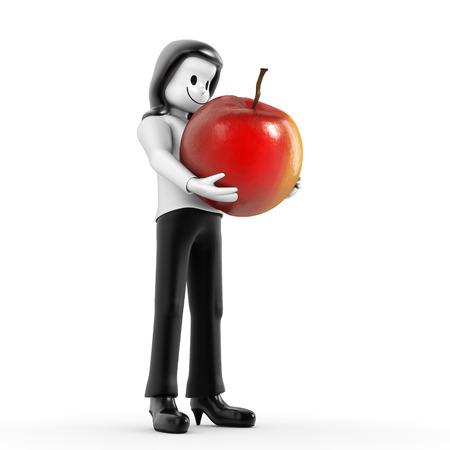 woman apple: woman apple Stock Photo