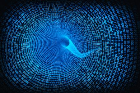 codigo binario: remolino de datos