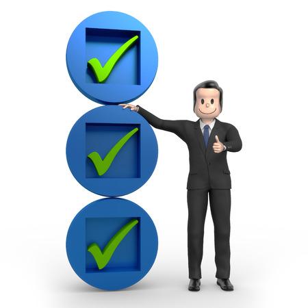strategically: Businessman with checklist