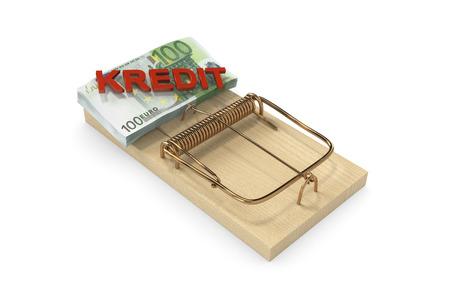 holz: credit trap Stock Photo