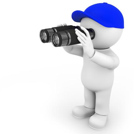 Figure observée Banque d'images