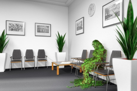 practises: in the waiting room Stock Photo