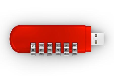 encode: USB encode red Stock Photo
