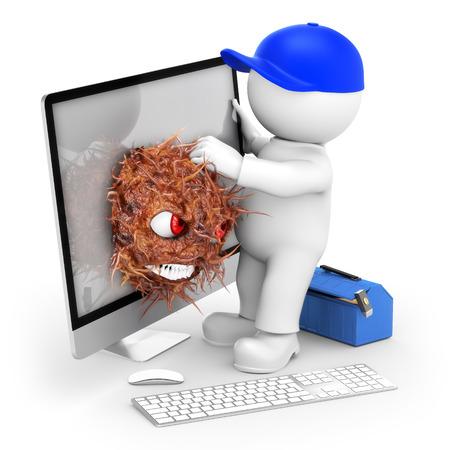 Retirer Virus Banque d'images - 42056573