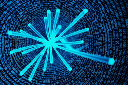câbles à fibres optiques Banque d'images