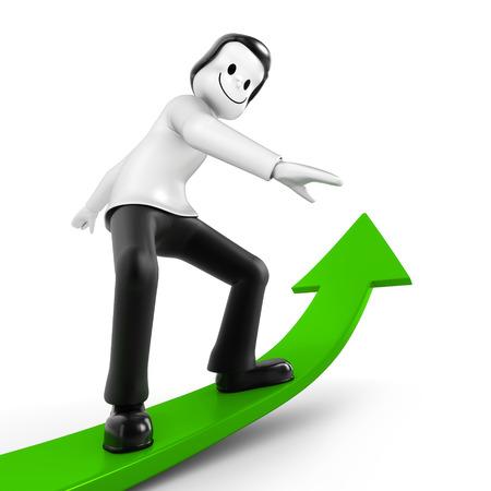 industrially: Man on green arrow back