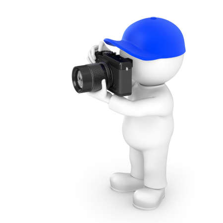 amateur: fot�grafo aficionado Foto de archivo