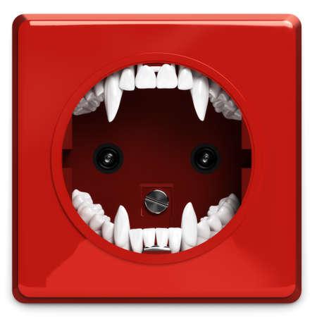 powerpoint: Power point del vampiro Foto de archivo