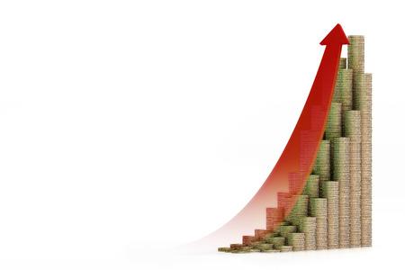 increase savings red Standard-Bild