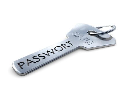 trojans: Password keys Stock Photo
