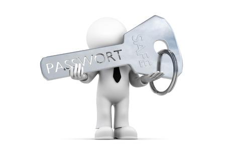 password: Figura contraseña y clave