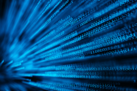 digitization: data packets Stock Photo