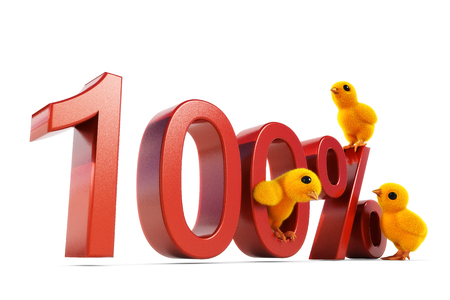 easing: chick 100 percent Stock Photo