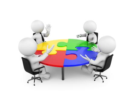 mesa redonda de puzzle Foto de archivo