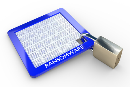 3D illustration - RANSOMWARE