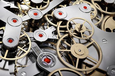 flexible business: 3D illustration - mechanical clock Stock Photo