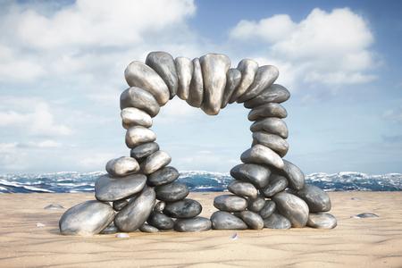 Illustration 3D - vacances à la plage Banque d'images