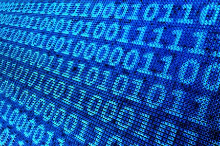 3D illustration - binary pixel Stock Photo