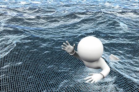 3D illustratie - informatie overbelasting