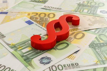 Illustration 3D - au ticket Banque d'images