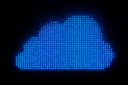 3D illustration - Data cloud with binary code Stock Photo