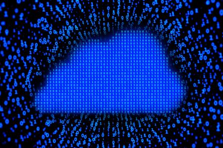 3D illustration - Cloud takes data Stockfoto