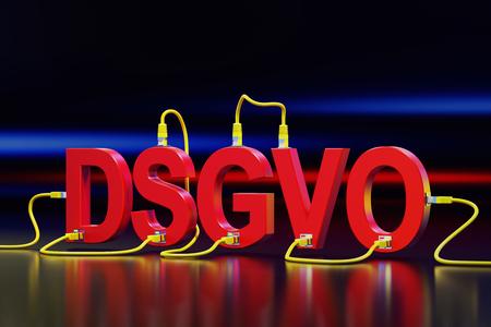3D illustration - DSGVO Stockfoto