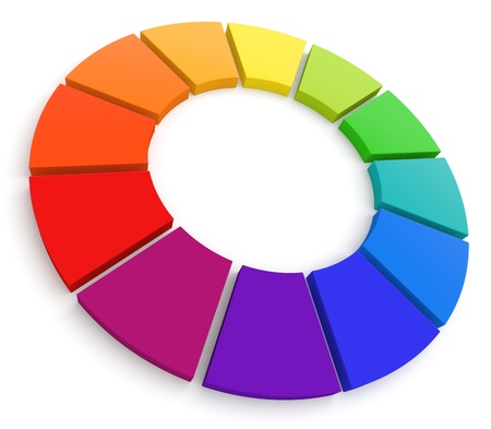 Color Wheel 3D photo