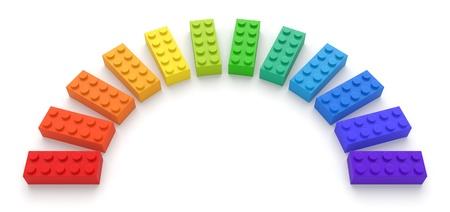 Colored toy bricks Archivio Fotografico