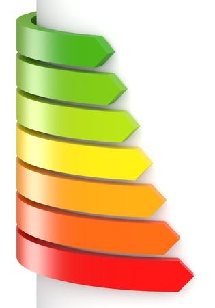 Concepto de eficiencia energética Foto de archivo