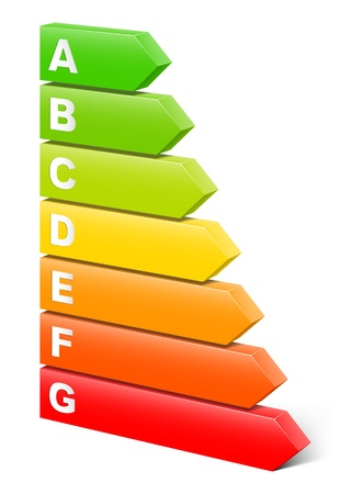 Clase de eficiencia energética Ilustración de vector