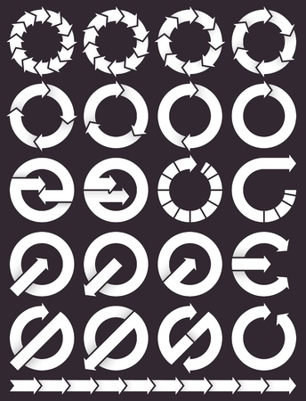 Set of circular arrows icons Vector