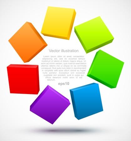 Farbige Platten 3D