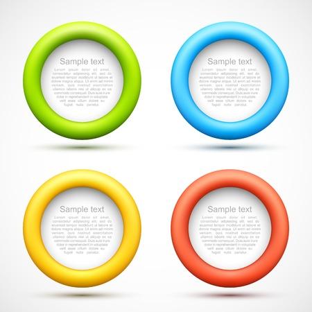 Set of colorful circle banners Illusztráció