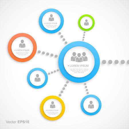 social media marketing: Abstract network with circles