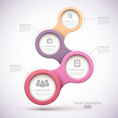 Colorful modern business circles Illusztráció